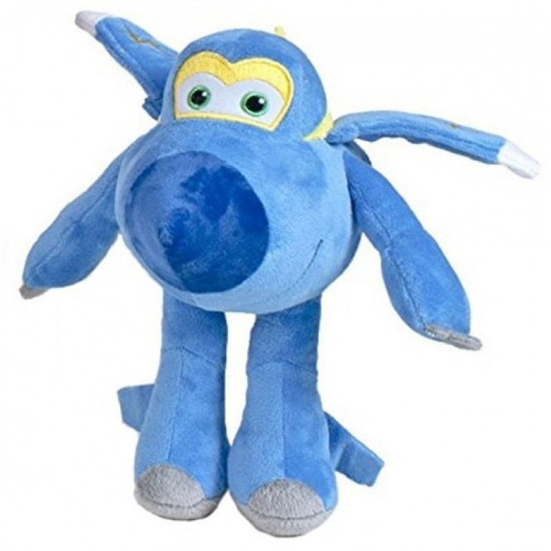 Plyšová hračka / postavička Super Wings / Letadla modrá 25 cm