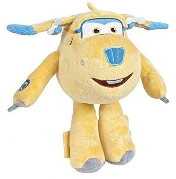 Plyšová hračka / postavička Super Wings / Letadla žlutá 25 cm