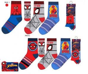 Sada 3 párů chlapeckých ponožek s pavoučím mužem Spidermanem / vecizfilmu