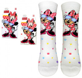 Dívčí ponožky s Myškou Minnie / Minnie Mouse velikost 23 - 34