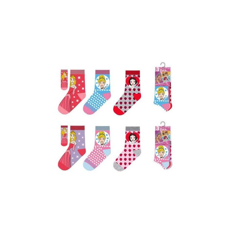 Sada 3 párů dívčích ponožek Princezny / Princess