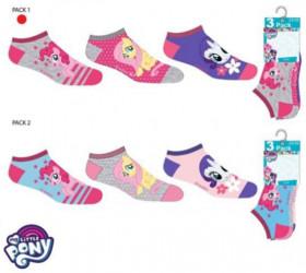 Sada 3 párů kotníkových dívčích ponožek My Little Pony / vecizfilmu