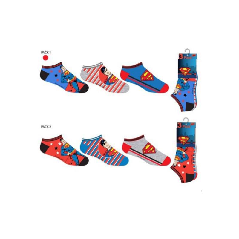 Sada 3 párů kotníkových chlapeckých ponožek Superman