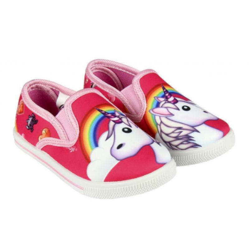 Dívčí papuče s gumovou podrážkou Emoji / Smajlíci velikost 26