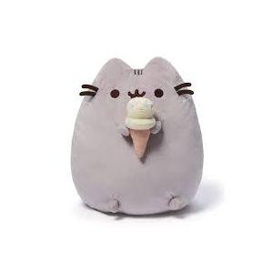 Plyšová kočička Pusheen s 3D zmrzlinou 25 x 20 x 7 cm