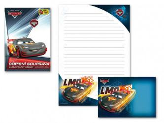 Dopisní papír barevný LUX 5+10 Disney / Cars 2 / Auta / vecizfilmu
