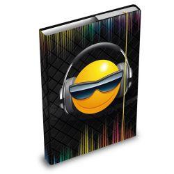 Desky / box na sešity A4 Smile / Smajlíci sluchátka / vecizfilmu