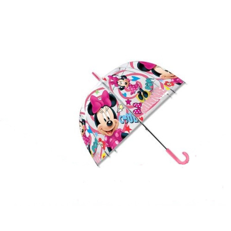Dívčí průhledný manuální deštník s Myškou Minnie / Minnie Mouse