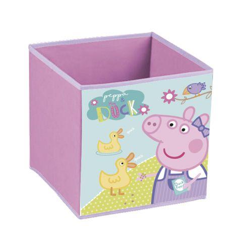 Úložný box / krabice na hračky Prasátko Peppa / Peppa Pig 31 x 31 x 31 cm