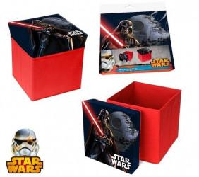 Taburet s úložným prostorem s motivem Star Wars / 31 x 31 x 33 cm / vecizfilmu
