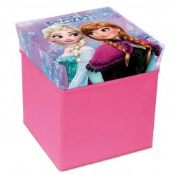 Krabice / taburet s úložným prostorem s motivem Frozen / ledové Království / 31 x 31 x 33 cm / vecizfilmu