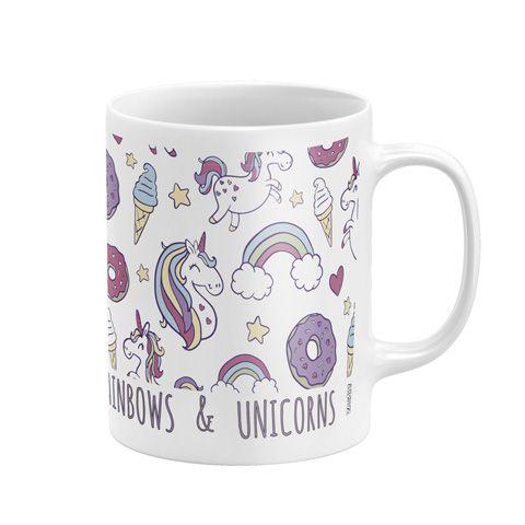 Dívčí porcelánový hrnek Jednorožec / Unicorn Rainbow 300 ml