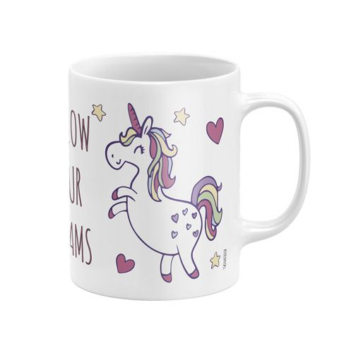 Dívčí porcelánový hrnek Jednorožec / Unicorn Dreams 300 ml