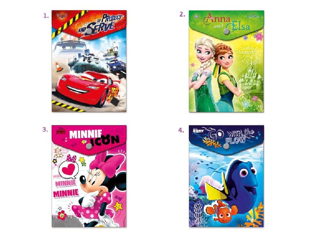 Plastová složka na druk A6 vertikální / Disney Mix / veci z filmu
