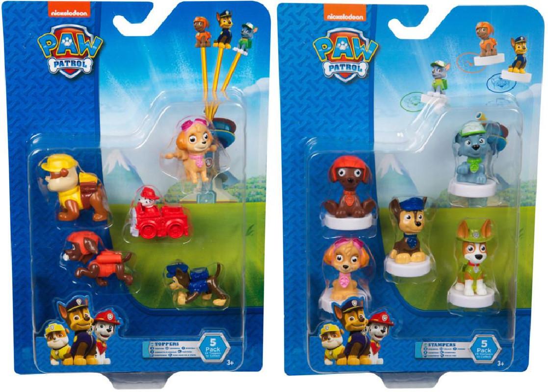 Sada 5 ks dekorativních figurek na tužku Paw Patrol / Tlapková Patrola