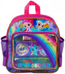Dívčí batůžek s vybavením Shimmer and Shine / Třpyt a lesk penál / tužka / pravítko / guma 11 x 29 x 26 cm / vecizfilmu