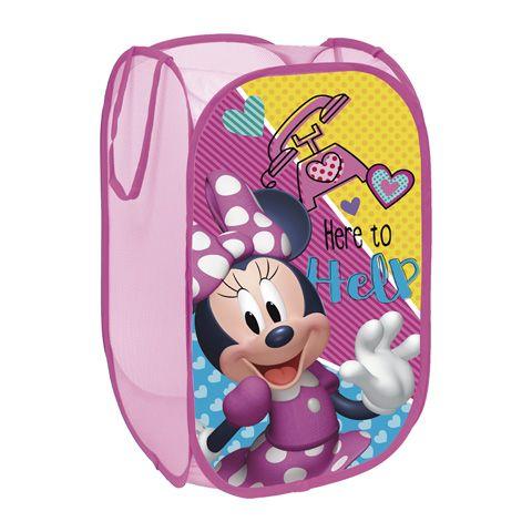Skládací koš na hračky Myška Minnie / Minnie Mouse 36 x 36 x 58 cm