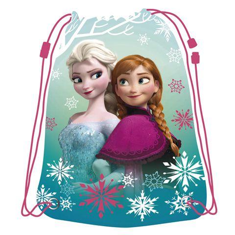 Dívčí gym bag / pytlík na přezůvky Ledové Království / Frozen 33 x 44 cm