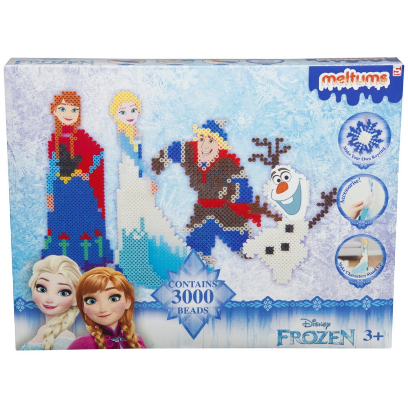 Kreativní set zažehlovacích korálků Frozen / Ledové království / 4 x 24 x 32 cm