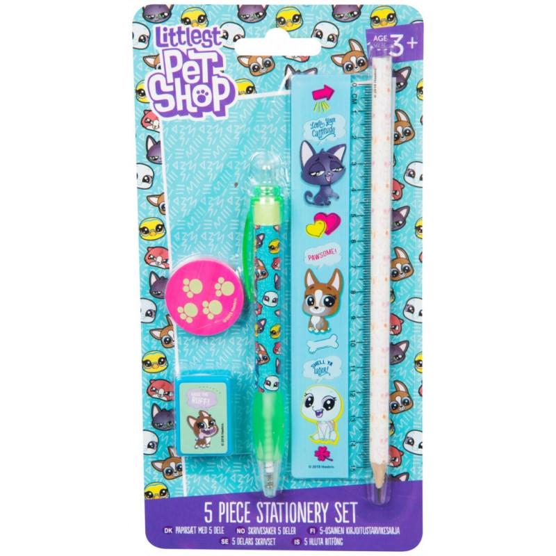 Malý školní set Littlest Pet Shop / 1,5 x 21 x 11 cm