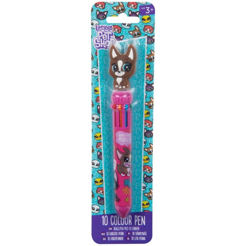 Vícebarevná propiska Littlest Pet Shop / 10 barev