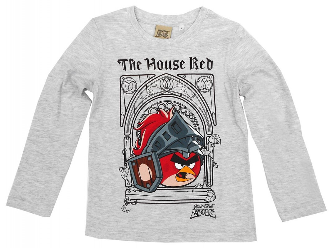 Chlapecké tričko s dlouhým rukávem Angry Birds / The House Red velikost 140 cm