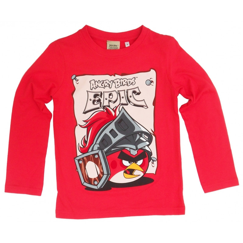 Chlapecké tričko s dlouhým rukávem Angry Birds / Epic červené velikost 128 cm