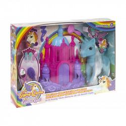 Velká dívčí sada Jednorožec / Unicorn s plastovým hradem a hřebeny / vecizfilmu