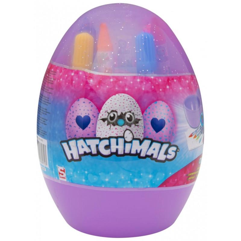 Vajíčko s výtvarnými potřebami Hatchimals 12 x 16 x 12 cm
