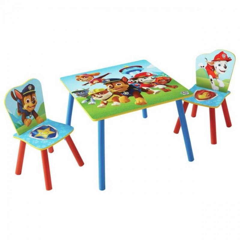 dětský stůl + 2 židle Paw Patrol / Tlapková patrola / stůl: 63 x 63 x 45 cm