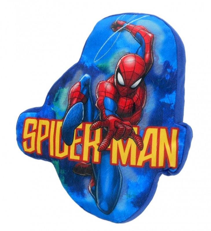 Tvarovaný polštář modrý Spiderman / 35 cm