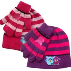 Dívčí podzimní sada oblečení Furby / čepice a rukavice / vecizfilmu