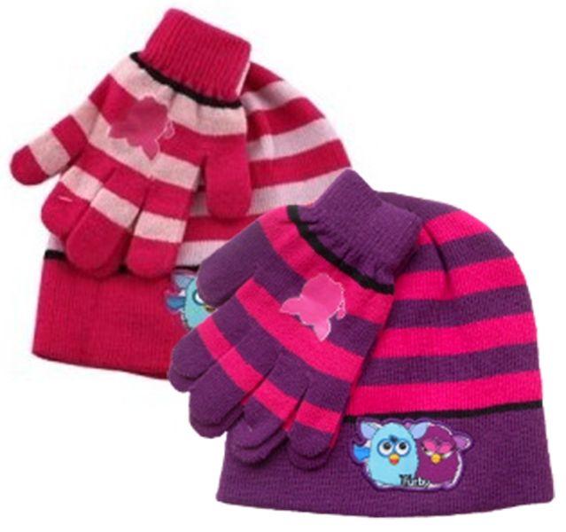 6ab68c3c6de Dívčí podzimní sada oblečení Furby   čepice a rukavice   vecizfilmu