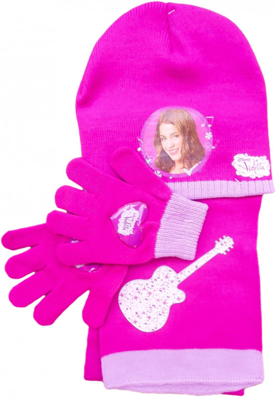 Dívčí sada oblečení Violetta / čepice / šála / rukavice