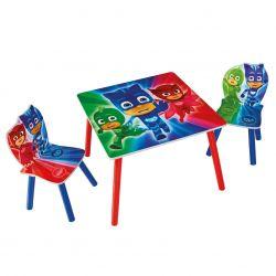 Dětský stůl + 2 Židle PJ Masks / Pyžamasky / Greg Amaya a Connor / vecizfilmu
