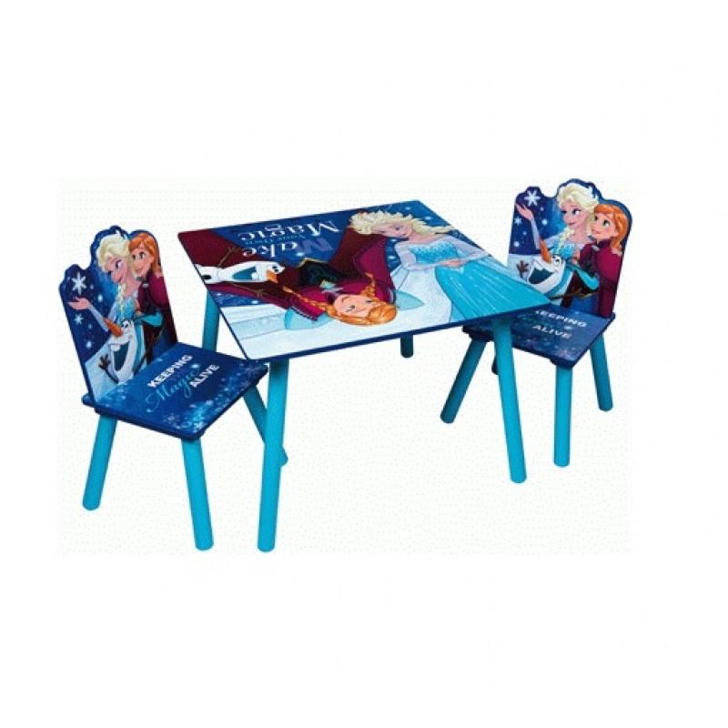 Dětský Dřevěný stůl + 2 židle Frozen