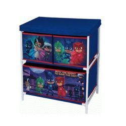 Úložný stojan s boxy na hračky PJ Masks / Pyžamasky 60 x 30 x 53 cm / vecizfilmu