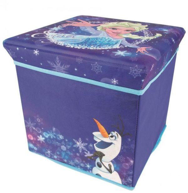 Dívčí taburet s úložným prostorem Frozen / Ledové království 30 x 30 x 30 cm