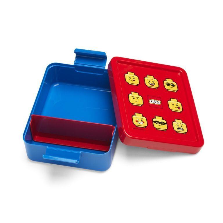 Plastová krabička na svačinu / lunch box Lego modro / červená 17 x 14 x 7 cm