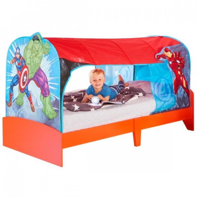 Stan na dětskou postel Avengers 90 x 190 x 90 cm Hulk / Iron Man / Kapitán Amerika