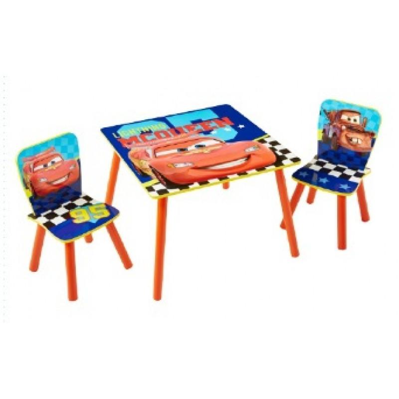 Dětský stůl + 2 Židle s Bleskem McQueenem Cars / Auta