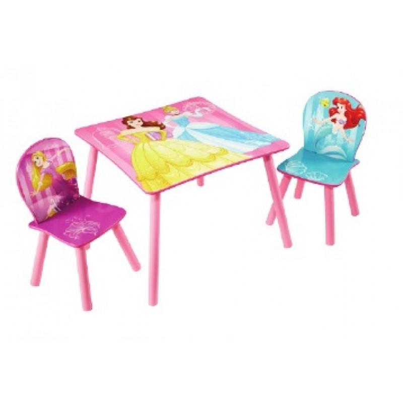 Dětský stůl + 2 Židle Princess / Princezny / Ariel / Popelka / Na vlásku