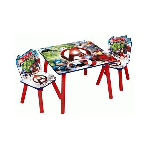 Dětský stůl + 2 Židle Avengers / Hulk / Iron Man / Kapitán Amerika