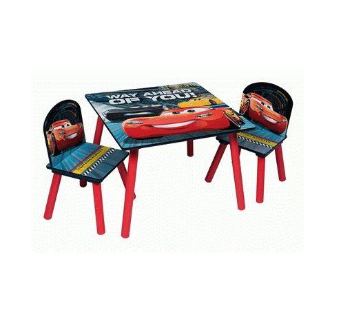 Dětský stůl + 2 Židle Cars / Auta Blesk McQueen