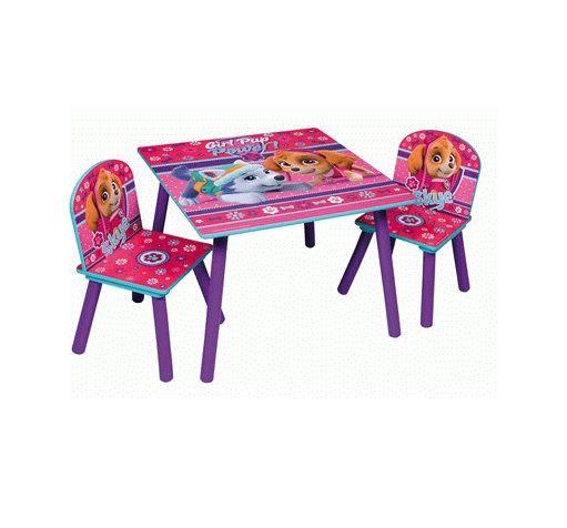 Dětský stůl + 2 Židle Paw Patrol / Tlapková Patrola / Skye a Everest