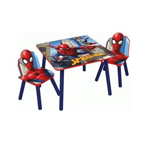 Dětský stůl + 2 Židle s pavoučím mužem Spidermanem
