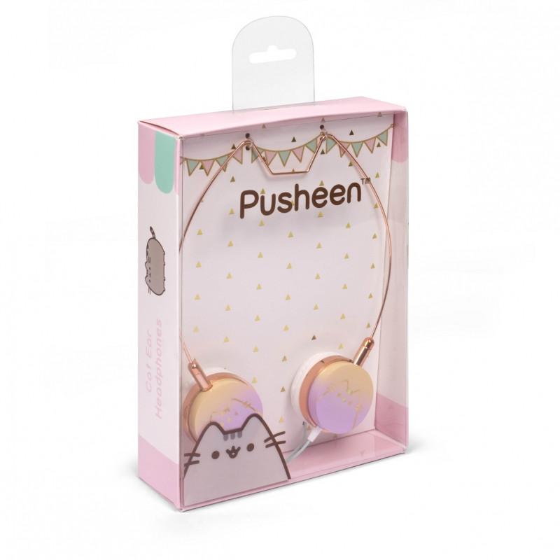 Dívčí hudební sluchátka s kočičkou Pusheen
