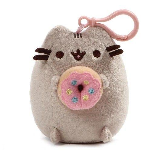 Přívěšek na klíče kočička Pusheen s 3D Donut 11 cm