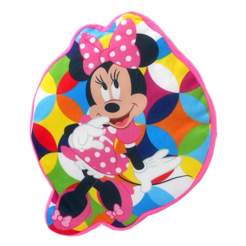 Tvarovaný velurový polštář Minnie Mouse / 35 cm