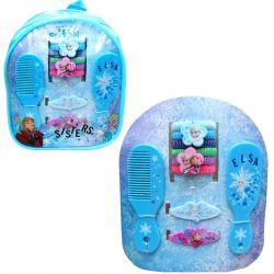Dívčí batůžek s vlasovými doplňky Frozen / Ledové Království hřeben / gumičky / sponky / vecizfilmu
